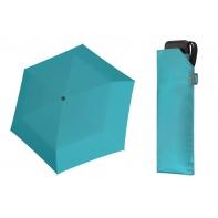Bardzo lekka wytrzymała płaska parasolka Doppler, BŁĘKITNA