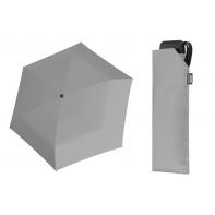 Bardzo lekka wytrzymała płaska parasolka Doppler, SZARA