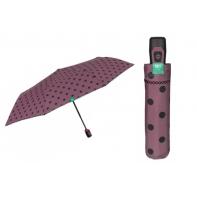 Automatyczna parasolka damska Perletti, fioletowa w GROCHY