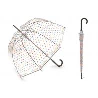 Głęboka automatyczna parasolka Benetton przezroczysta w GROSZKI