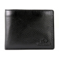 Czarny portfel męski z wyjmowaną wkładką Wittchen, kolekcja: Italy