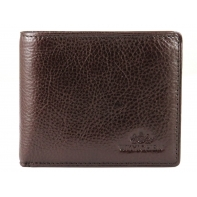 Poziomy skórzany portfel męski Wittchen, kolekcja: Italy, brązowy