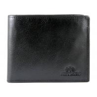 Skórzany klasyczny męski portfel Wittchen RFID kolekcja Italy, czarny