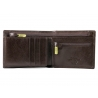 Skórzany klasyczny męski portfel Wittchen RFID kolekcja Italy, brązowy