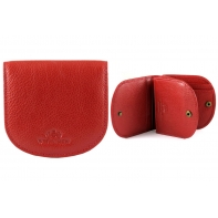"""Mały portfel skórzany """"podkówka"""" Wittchen, kolekcja: Italy, czerwony"""