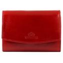 Skórzany damski portfel/portmonetka Wittchen, kolekcja Italy, czerwony