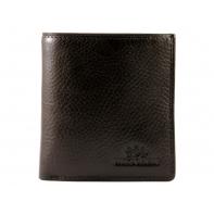 Mały skórzany portfel Wittchen, RFID kolekcja Italy, brązowy