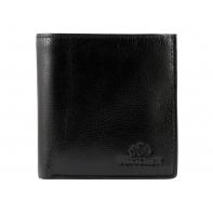 Mały SKÓRZANY portfel Wittchen, kolekcja Italy, czarny