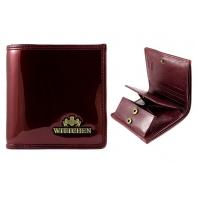 Mały portfel damski SKÓRZANY Wittchen kolekcja Verona BORDOWY