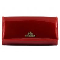 Długi portfel damski Wittchen SKÓRZANY, kolekcja Verona CZERWONY