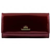 Długi portfel damski Wittchen SKÓRZANY, kolekcja Verona BORDOWY