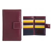 Bardzo duży SKÓRZANY portfel damski DuDu®, 534-1186 BURGUNDOWY