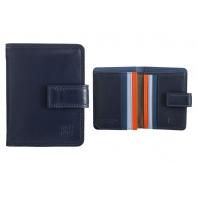Skórzany mały portfel damski DuDu®, 534-1196 GRANATOWY