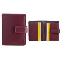 Skórzany mały portfel damski DuDu®, 534-1196 BURGUNDOWY