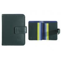 Skórzany mały portfel damski DuDu®, 534-1196 CIEMNOZIELONY