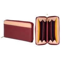 Skórzany portfel damski SASZETKA DuDu®, 534-276 BURGUNDOWY