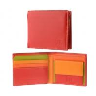 Skórzany MAŁY portfel męski DuDu®, 534-421 CZERWONY