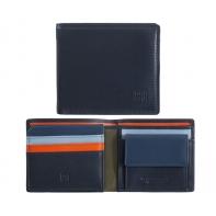 Skórzany MAŁY portfel męski DuDu®, 534-421 GRANATOWY