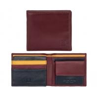 Skórzany MAŁY portfel męski DuDu®, 534-421 BURGUNDOWY