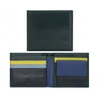 Skórzany MAŁY portfel męski DuDu®, 534-421 CIEMNOZIELONY