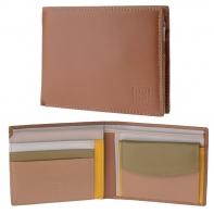 Skórzany poziomy portfel męski DuDu®, 534-473 BEŻOWY