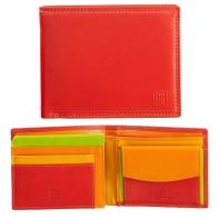Skórzany poziomy portfel męski DuDu®, 534-473 CZERWONY