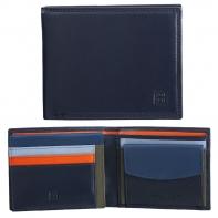 Skórzany poziomy portfel męski DuDu®, 534-473 GRANATOWY
