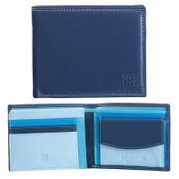 Skórzany poziomy portfel męski DuDu®, 534-473 NIEBIESKI