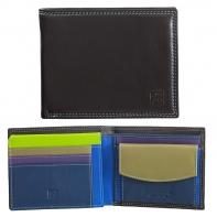 Skórzany poziomy portfel męski DuDu®, 534-473 BRĄZOWY