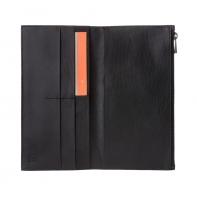 SUPER cienki skórzany portfel męski DuDu® Zip-It, 597-661 CZARNY