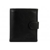 Skórzany portfel męski ZAPINANY Wittchen kolekcja Italy, CZARNY