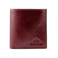 MAŁY portfel Wittchen SKÓRZANY kolekcja Italy BORDOWY