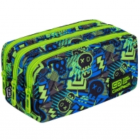 Piórnik szkolny trzykomorowy Coolpack Primus Xo Skull