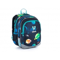 Plecak dwukomorowy dla chłopca Topgal ELLY 21015 B RAKIETA