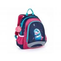 Plecak przedszkolny dla dziewczynki Topgal SISI 21023 G + puchata przywieszka