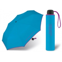 Niewielka, lekka parasolka BENETTON, błękitno - fioletowa