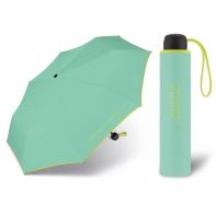 Niewielka, lekka parasolka BENETTON, seledynowo - żółta