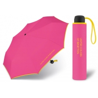 Niewielka, lekka parasolka BENETTON, różowo - żółta