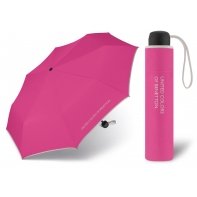 Niewielka, lekka parasolka BENETTON, różowo - szara