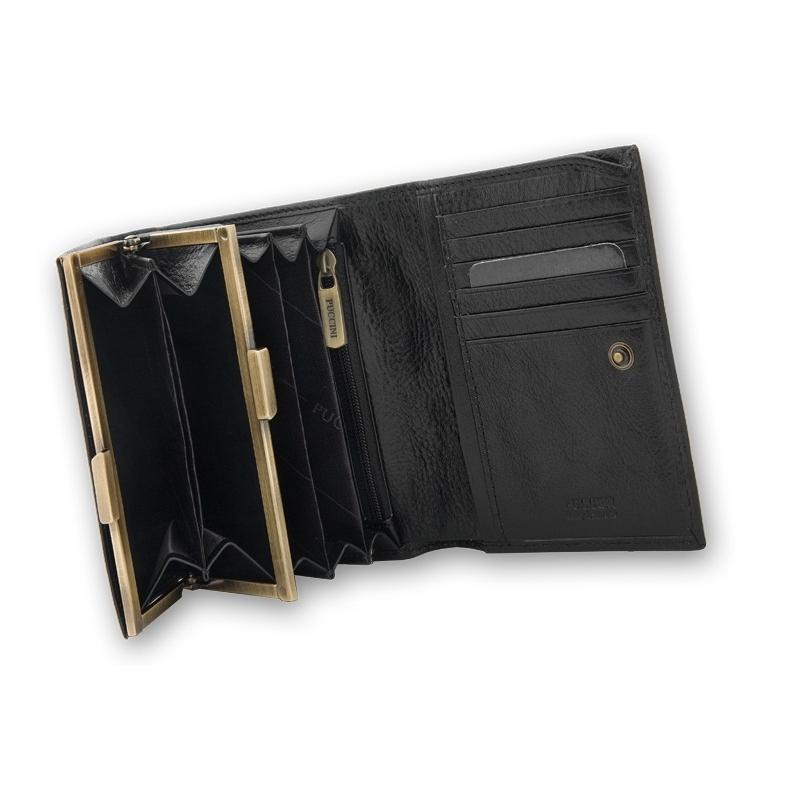 8056865c60241 Portfel damski Puccini P1709 w kolorze czarnym