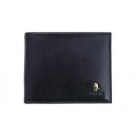 Męski portfel Puccini w kolorze czarnym z wyjmowaną wkładką na karty