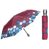 Automatyczna parasolka damska marki Parasol, granatowa w kółka