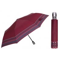 Automatyczna parasolka damska marki Parasol, bordowa we wzory