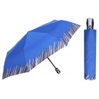 Automatyczna parasolka damska marki Parasol, niebieska z paskami