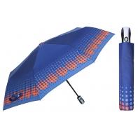 Automatyczna parasolka damska marki Parasol, granatowa w kropki