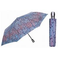 Automatyczna parasolka damska marki Parasol, granatowa w niebieskie paski