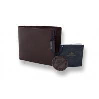 Portfel Wittchen RFID kolekcja Italy, kolor brązowy