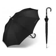 Długi czarny parasol automatyczny Pierre Cardin NOIRE