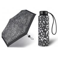 Kieszonkowa, ultra mini parasolka Happy Rain 16 cm, czarna w cętki