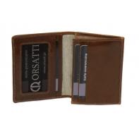 Etui na wizytówki Orsatti EW01 w kolorze jasny brąz